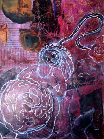 Blogbirth Sally Swain original artwork