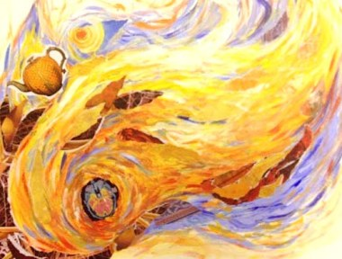 creative flame painting