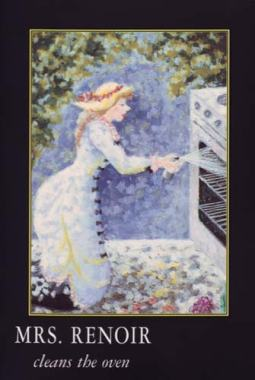 Mrs Renoir cleans the oven from 'Great Housewives of Art' (HarperCollins, Viking Penguin, Doubleday)