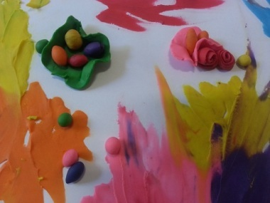 paint with plasticine