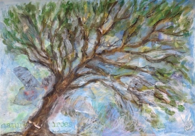 Sally Swain tree art