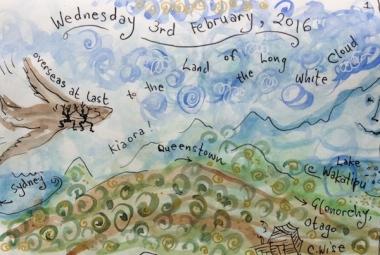 Overseas at last Sally Swain mini art journal