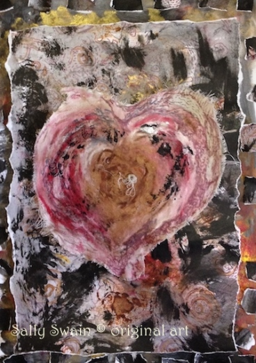 heart solstice painting collage