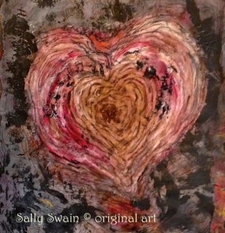 bird heartwood Sally Swain art
