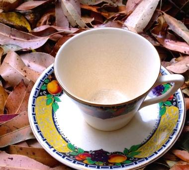 teacup art Sally Swain