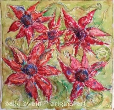 bricolage tissue watercolour painting