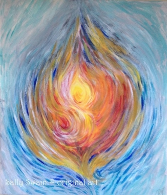 flame life force painting long title