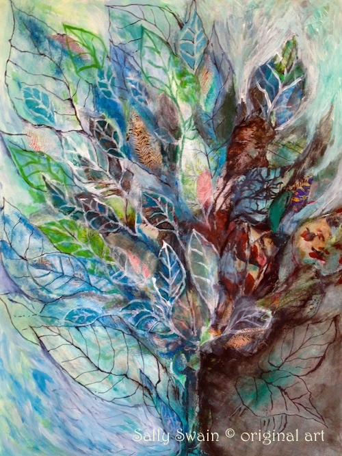 tree art painting Sally Swain