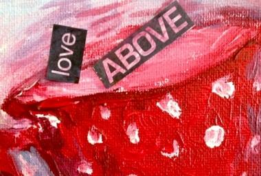 Love Above Sally Swain art