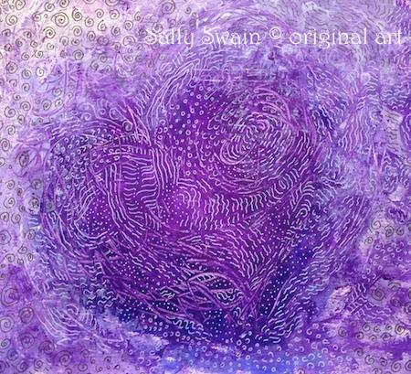 purple heart art Swain