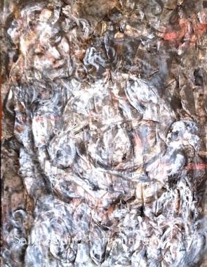 white paint collage venus