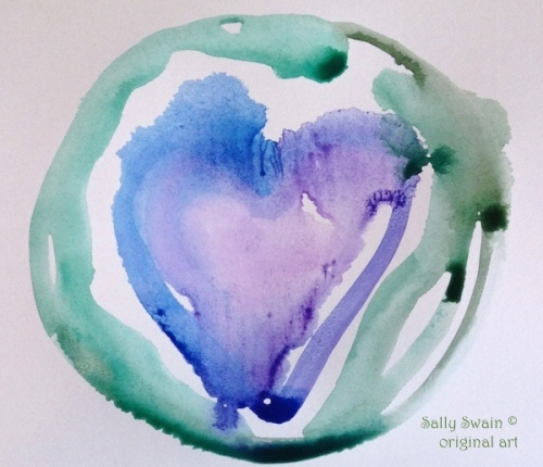 heart art watercolour Swain