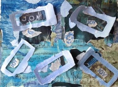 Joy art collage Swain