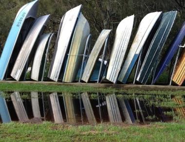 boat photo reflection sensory awareness