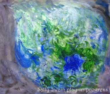 earth painting acrylic