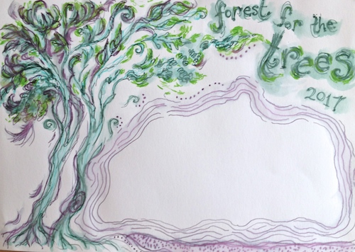 art journal Forest for Trees