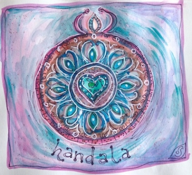 mandala handala small art