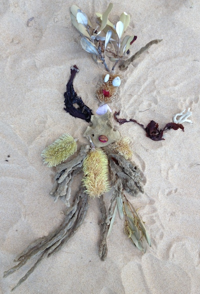 beach art installation