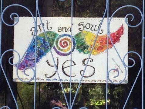 window art rainbow sign
