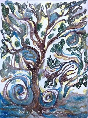 tree watercolour