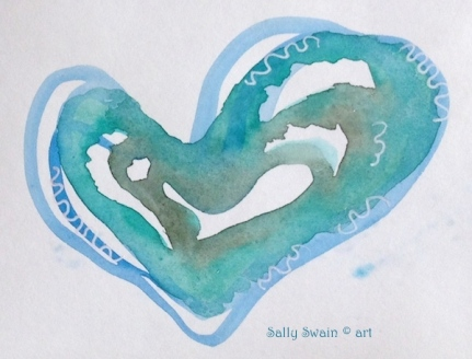 watercolour heart art
