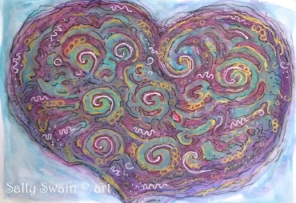 heart art paint