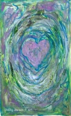art heart paint Swain