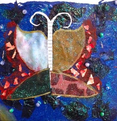 butterfly art glitter