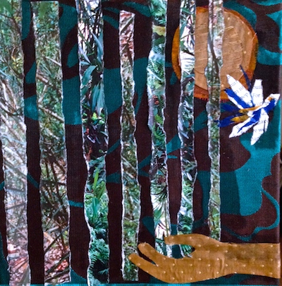forest collage art