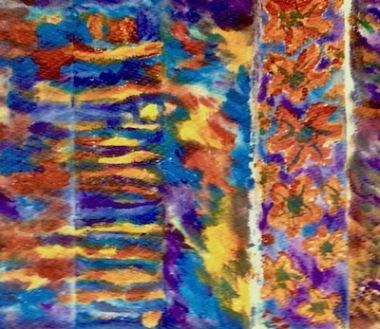 leftover paint paper towel acrylic