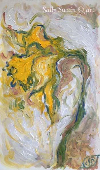 daffodil painting Swain