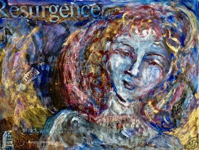 art paint collage moon solstice