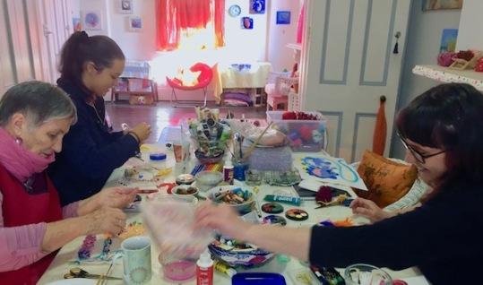 painting beading stitching women
