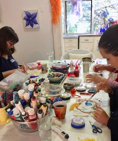 mother daughter art workshop