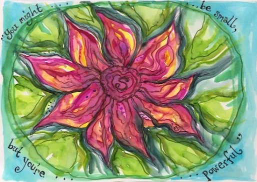 watercolour flower power