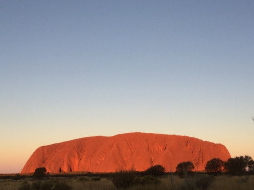 Uluru sunrise glow beauty nature