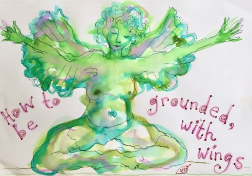 earth angel watercolour art therapy