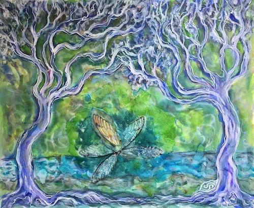 art trees cicada wing grief