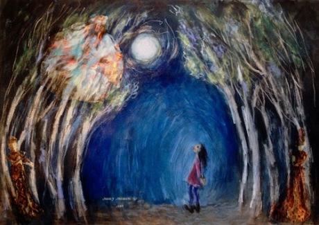 Sally Swain art painting collatge