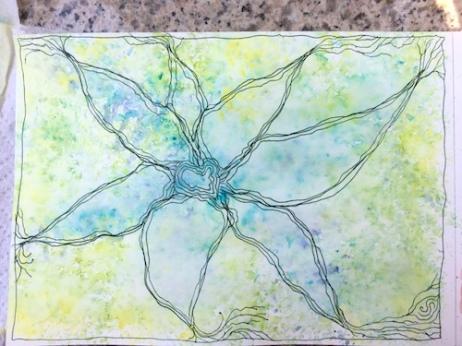 Swain art watercolour flower